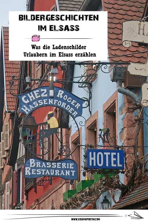 Bildergeschichten im Elsass: Was die Ladenschilder Urlaubern im Elsass erzählen