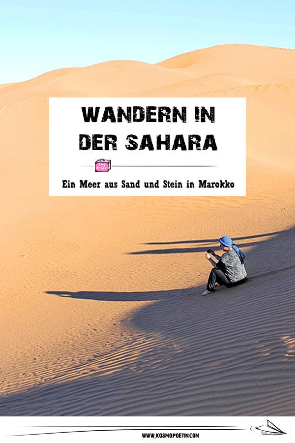 Wandern in der Sahara: Ein Meer aus Sand und Stein in Marokko